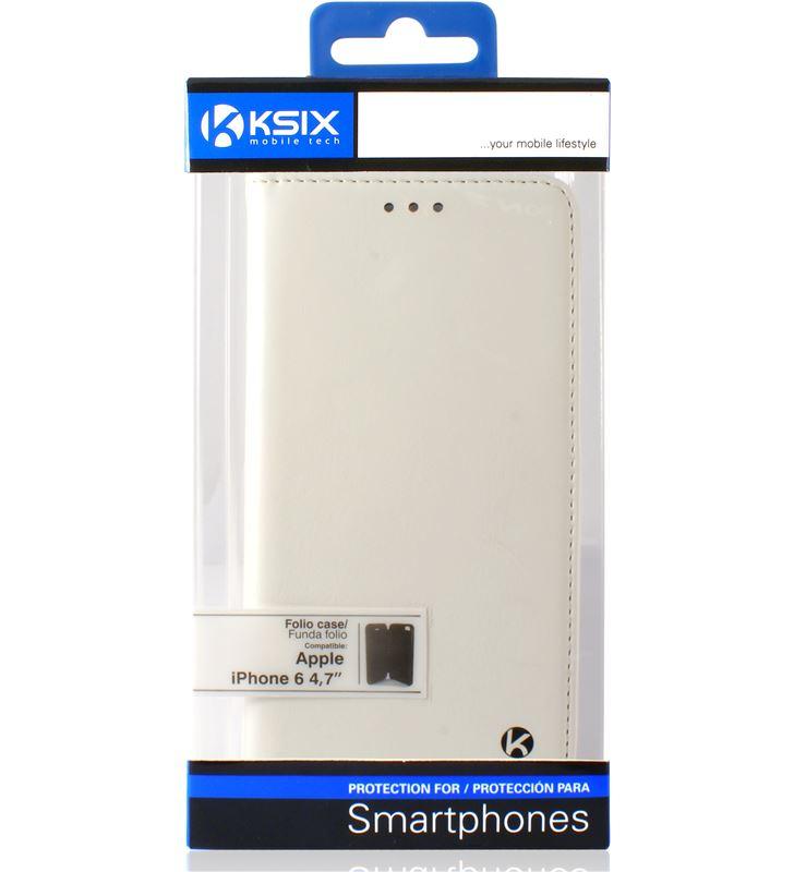 Funda folio Ksix iphone 6 407'' standing blanca B0925FU20B - 24360740_3236