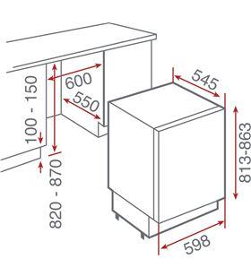 Congelador vertical Teka tgi2120d, 96 l., 3 cajona 40694000 - 40694000