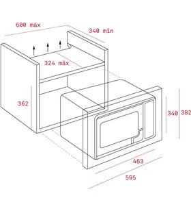 Teka microondas mwe 225 fi integrable inox 40581515 - MWE 225 FI