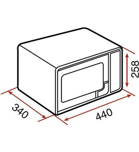 Teka 40590470 microondas mwe 225 g inox 20l Microondas - 40590470