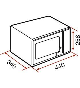 Teka microondas mwe 225 g inox 20l 40590470 Microondas - 40590470