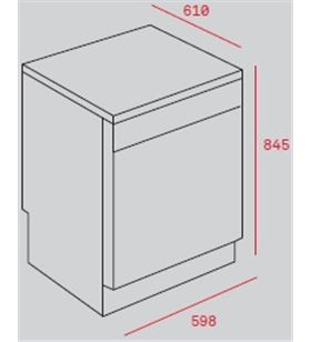 Teka lavavajillas lp8 820 inox 40782360 Lavavajillas de 60 cm - 40782360