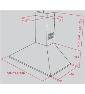 Teka 40460529 campana dbp 90 pro inox Campanas extractoras decorativas - 40460529