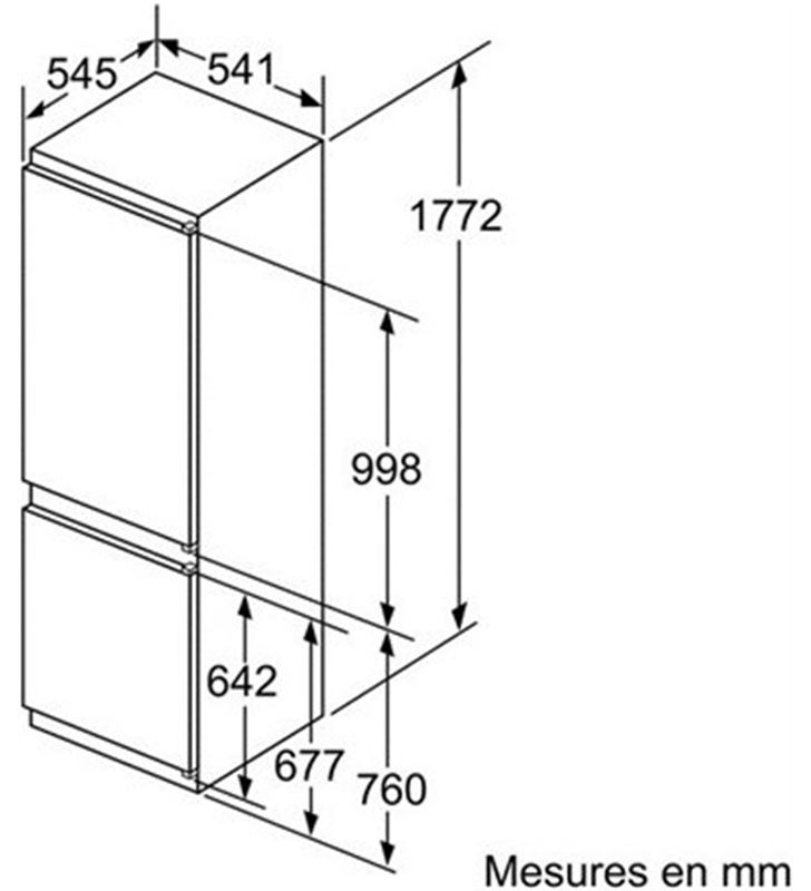 Bosch combi integrable KIV86VS30 267l 177cm Frigoríficos combinados integrables - 26562078_2854