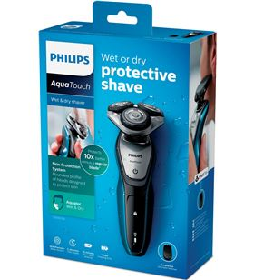 Philips afeitadora aquatouch wet&dry recargable sistema de s542006 - 8710103738121