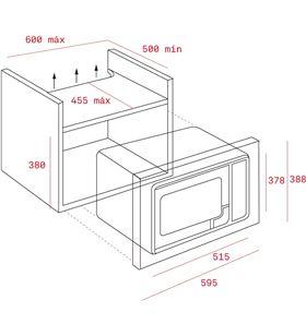 Teka horno microondas integrable mwe-255 fi 40581125 - MWE-255 FII