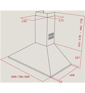 Teka 40460519 campana dbp 70 pro inox (eec/eu) Campanas extractoras decorativas - DBP 70