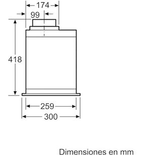Balay 3BF859XP campana integrable grupo flitrante inox - 3BF859XP