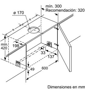 Balay 3BT860X campana telescopica ancho 60cm Campanas extractoras telescópicas - 3BT860X