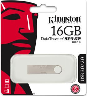 Kingston pendrive 3.0 se9g2 metal 16 gb dtse9g216gb KINDTSE9G216GB - DTSE9G216GB