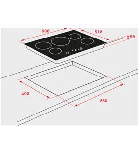 Teka placa inducción irf 9430 biselada 4f negra 10210185 - 10210185