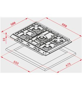 Teka placa gas x 70.1 5g ai al dr ci 40212040 Placas encimeras - 40212040