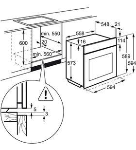 Electrolux horno independiente EOB6631BOX inoxidable - EOB6631BOX