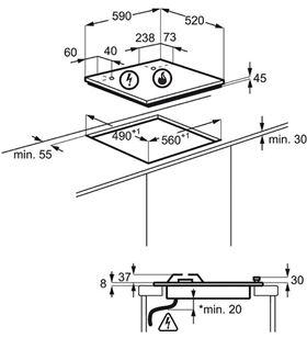 Electrolux placa gas 60cm EGT6633NOK Placas encimeras - EGT6633NOK