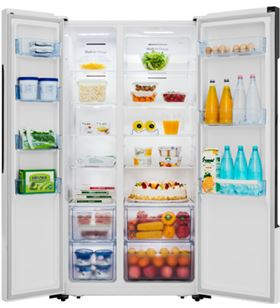 Hisense frigorífico combinado RS670N4HW1 no frost Frigoríficos Americanos - RS670N4HW1