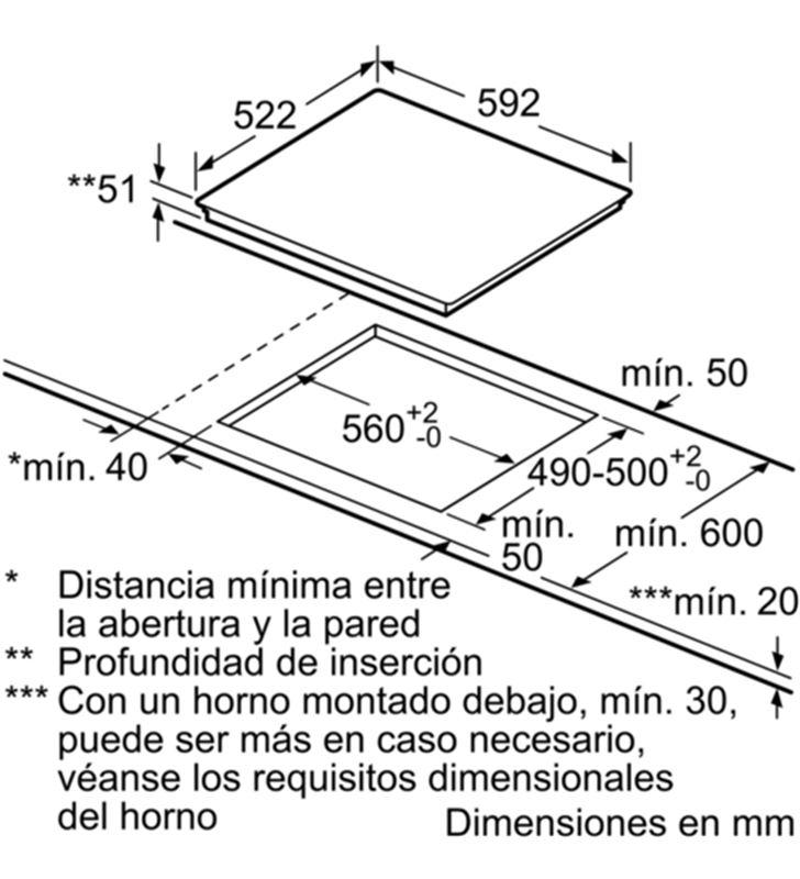 Balay placa inducción de 60cm ancho 3EB864ER Placas induccion - 35446062_5665537454