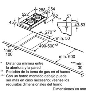 Balay placa de gas 30cm de ancho 3ETG632HB Placas encimeras - 3ETG632HB